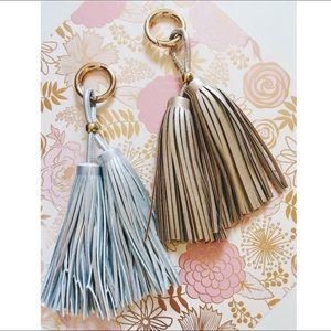 Gold & Silver Tassel Keychains.
